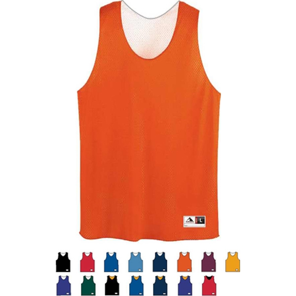 S- X L - Adult Tricot Mesh Reversible Tank Top. Sold Blank Photo