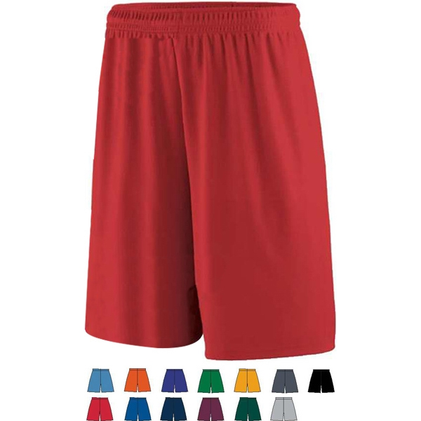 Youth Training Short Made Of 100% Polyester Wicking Knit. Sold Blank Photo