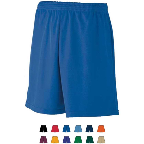 Youth Mini Mesh League Short Features Elastic Waistband. Sold Blank Photo