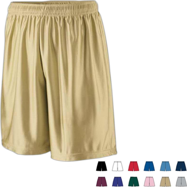 "S- X L - Adult Dazzle Fabric Short With 7"" Inseam. Made Of 100% Polyester. Sold Blank Photo"