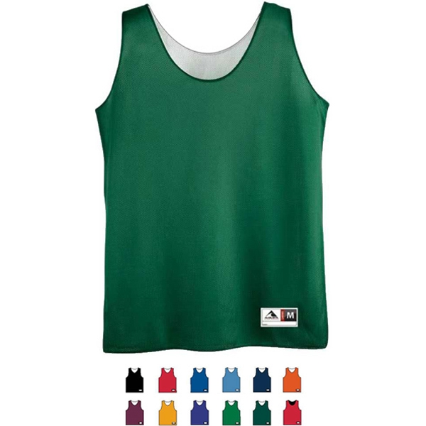 Girls Fully Reversible Mini Mesh League Tank Top. Sold Blank Photo