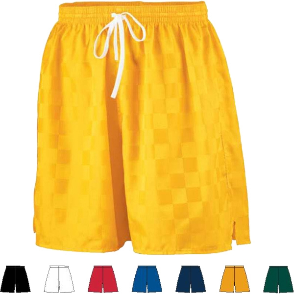 Youth Long Checkerboard Nylon Short. Sold Blank Photo