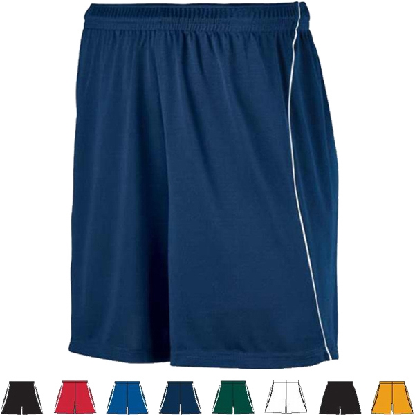 S- X L - Adult Wicking Soccer Short With Piping. Sold Blank Photo