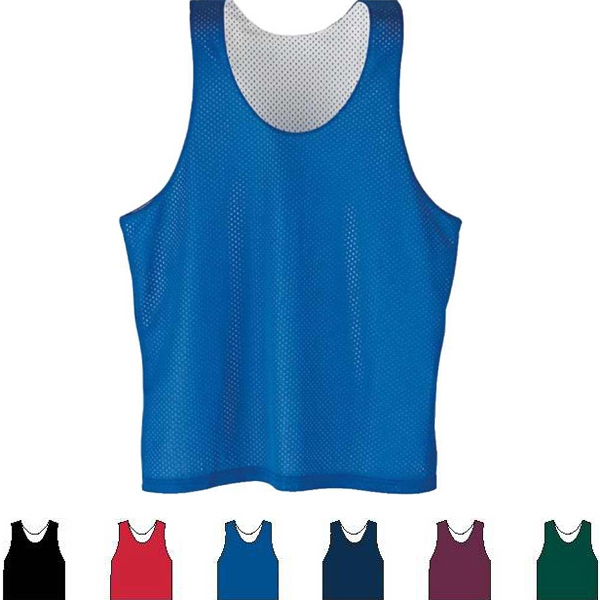 S- X L - Adult Reversible Tricot Mesh Lacrosse Tank. Sold Blank Photo