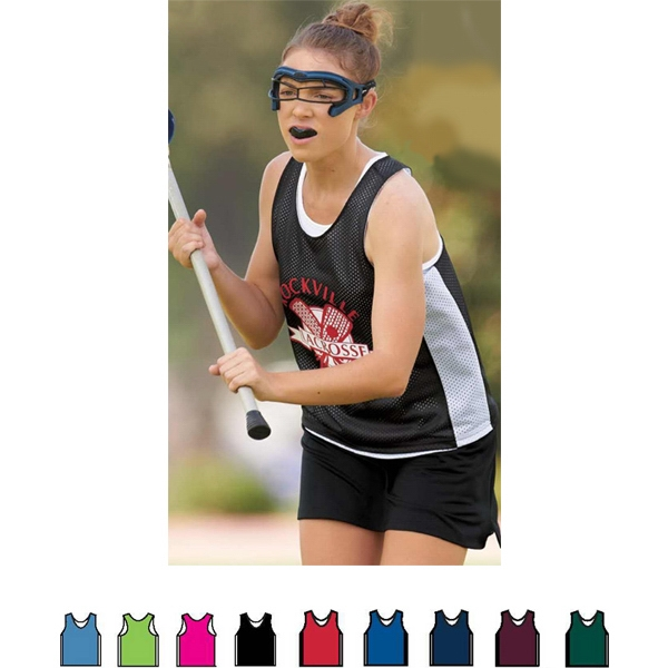 X S- X L - Ladies' Fully Reversible Tricot Mesh Lacrosse Tank Photo