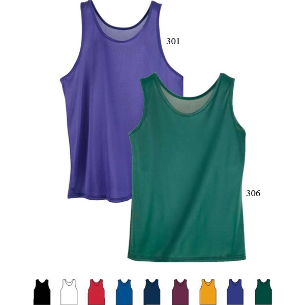 3 X L - Adult 100% Nylon Tricot With Wicking Finish Tank Top. Sold Blank Photo