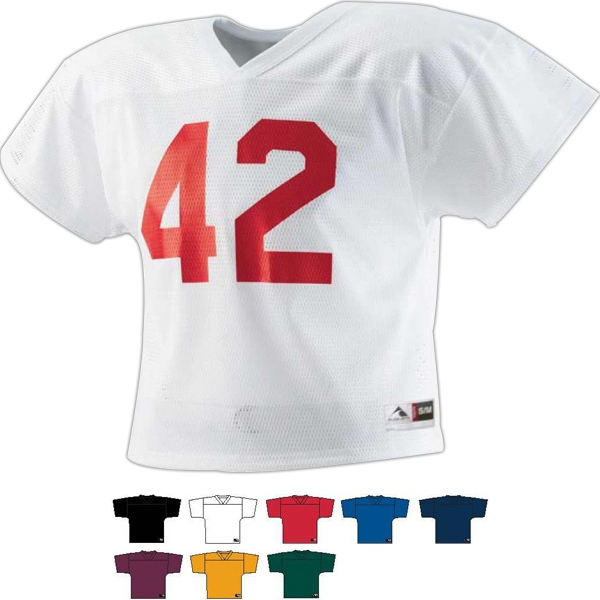 Two-a-day - Youth 100% Polyester Diamond Mesh Jersey. Sold Blank Photo