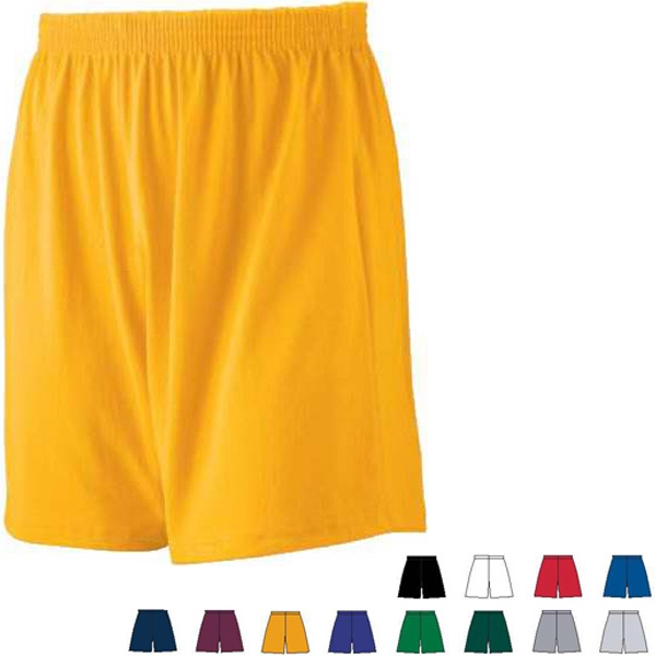 Colors  X S-l - Youth Jersey Knit Short Made Of Heavyweight 50% Polyester/50% Cotton. Sold Blank Photo