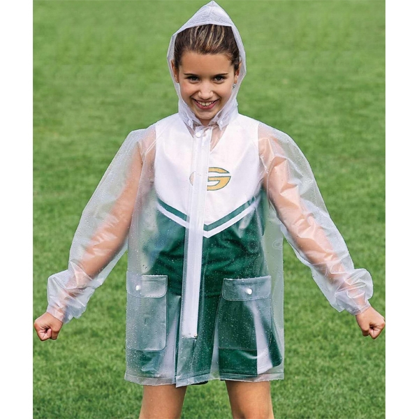 Youth Clear Rain Jacket. Sold Blank Photo
