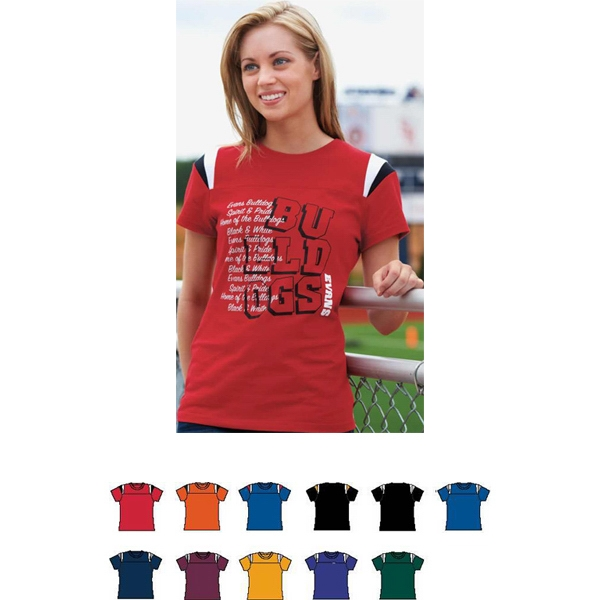 Rush - Girls 100% Cotton Junior Fit Tee. Sold Blank Photo