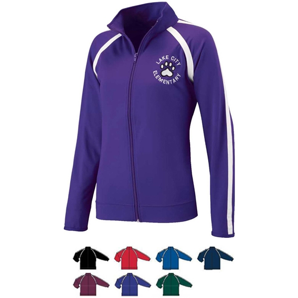 Girls Poly/spandex Performance Jacket. Sold Blank Photo