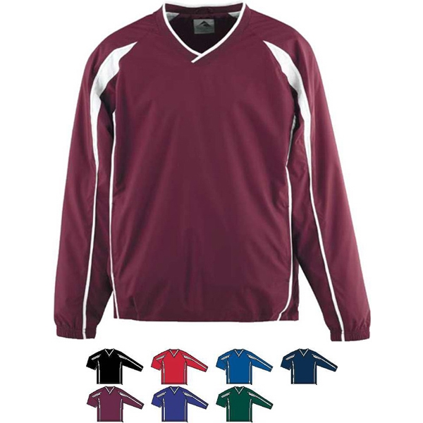 Adult Micro Poly Color Block Pullover Jacket