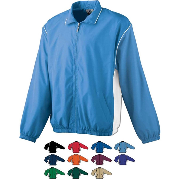 Youth Micro Polyester Full-zippered Jacket. Sold Blank Photo