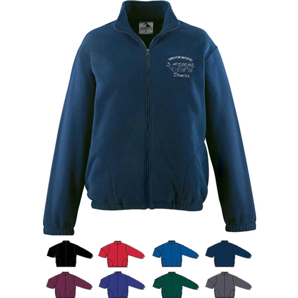 Youth 100% Polyester Fleece Full Zip Jacket. Sold Blank Photo