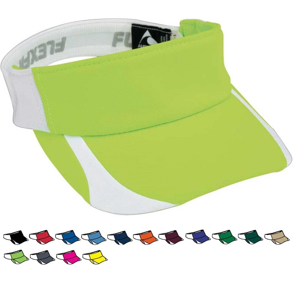 Flexfit (r) Contender - Adult Three Panel Visor With Contrast Color Front Panel And Bill. Sold Blank Photo