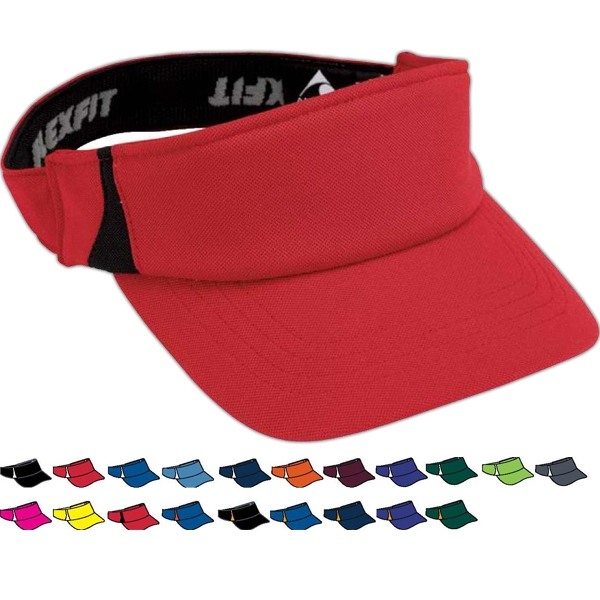 Flexfit (r) Zone - Youth Wicking Stretch Mesh Three Panel Visor. Sold Blank Photo