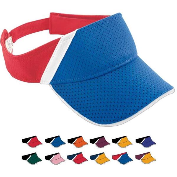 Adult Athletic Mesh and Dazzle Stripe Visor