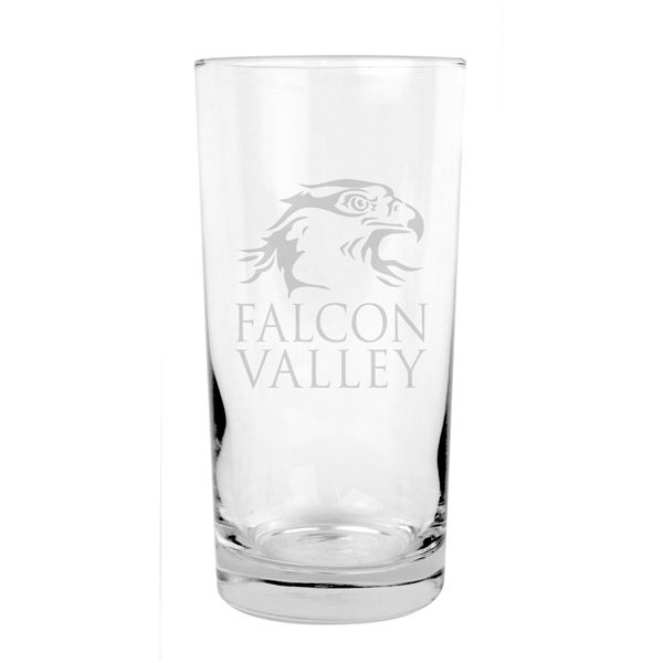 12 Oz. Beverage Glass Features Clean Straight Lines Photo