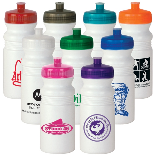 20 Oz. Sports Water Bottle With Translucent Push/pull Lid Photo