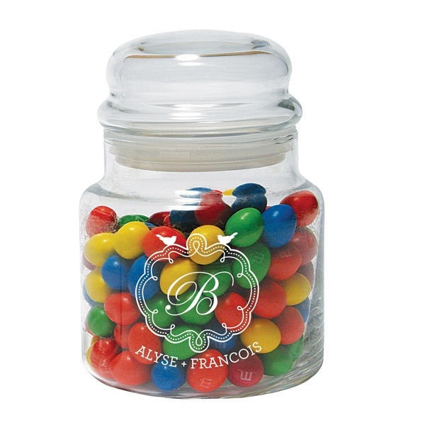 16 Oz. Glass Candy Jar With Bubble Top Lid - Mega Special Photo