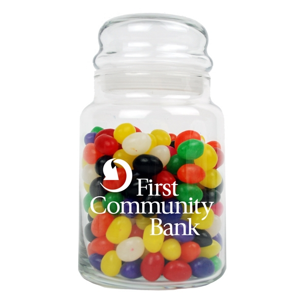 26 Oz. Glass Candy Jar With Bubble Top Lid Photo