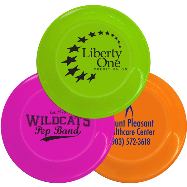 "Neon Colors - Plastic 9.25"" Flyers Can Also Double As A Paper Plate Holder Photo"