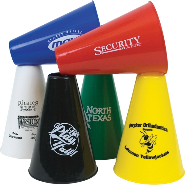 "7.5"" Souvenir Plastic Megaphones, Solid Colors - Mega Special Photo"