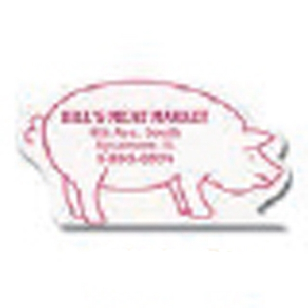 "Value Stick (tm) - 3"" X 3 7/8"" Larger Pad - Pig - Vinyl Self Adhering Calendar With Standard 13-month Calendar Pad Photo"