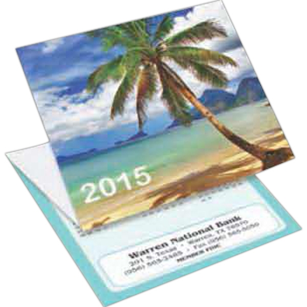 Beach - Tri-fold Calendar With Stock Design Photo