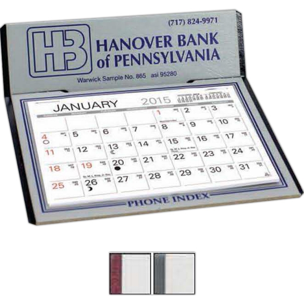 The Graystone - Gray Monthly Calendar With Memo Style Pad And Standard Phone Index Underpad Photo