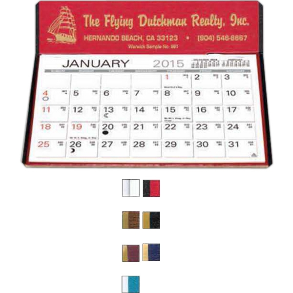 "The Charter - Monthly Desk Calendar With 6"" X 4 3/16"" Large Memo Style Pad Photo"
