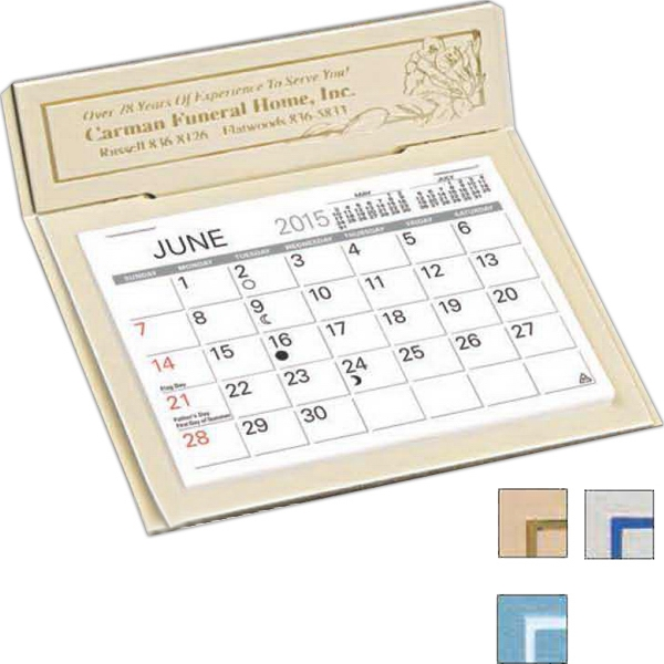 "The Versailles - Monthly Desk Calendar With 4 3/8"" X 3 1/4"" Memo Style Pad Photo"