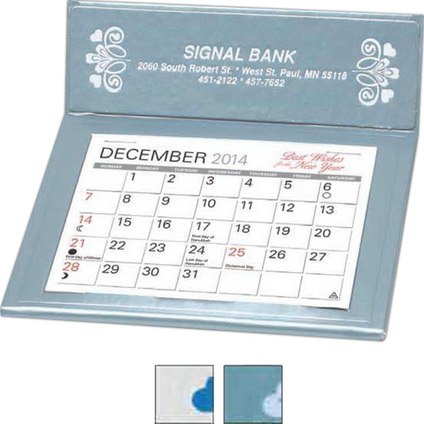 "The Cherbourg - Desk Calendar With 4 3/8"" X 3 1/4"" Memo Style Pad And Index Under Calendar Pad Photo"