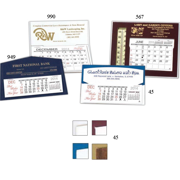 "The Stanley - Monthly Desk Calendar 5 3/4"" X 3 1/2"" With Memo Style Pad And Mailing Envelopes Photo"