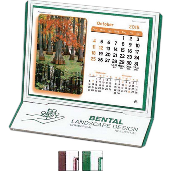 "The Monterey - Monthly Desk Calendar With Stock Design And 4 3/8"" X 3 1/4"" Monthly Pad Photo"