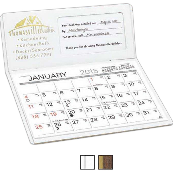 The Personalizer - Desk Calendar With Memo Style Pad And Business Card Window Photo
