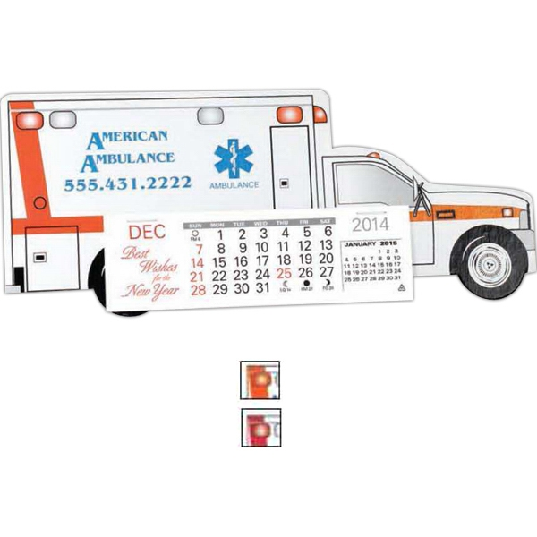 Monthly Calendar In The Shape And Design Of An Ambulance Photo