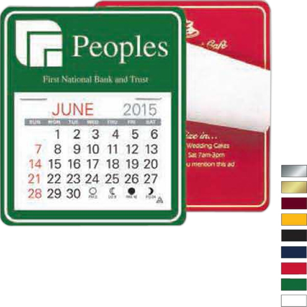 "Easy Stick (tm) - Universal Self Adhering Calendar With 13 Month Pad, 3 1/2"" X 4 1/8"" Photo"