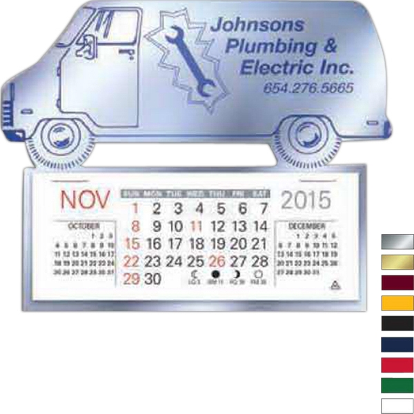 Easy Stick (tm) - Truck - Self Adhering Vinyl Calendar With 13 Month Pad Photo
