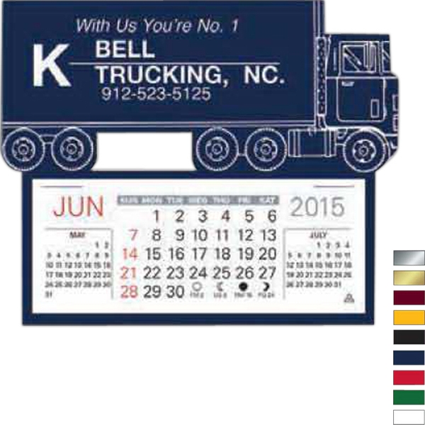 Easy Stick (tm) - Semi Truck - Self Adhering Vinyl Calendar With 13 Month Pad Photo