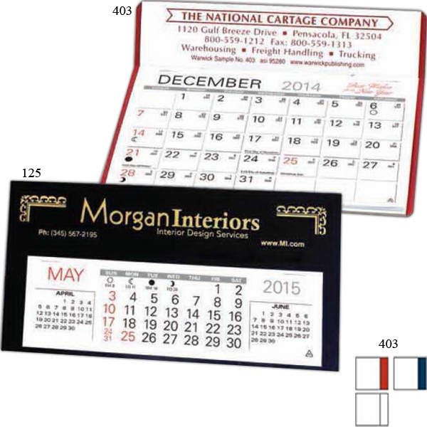 "Vigilant - Desk Calendar With Large 6"" X 4 3/16"" Memo Style Pad Photo"