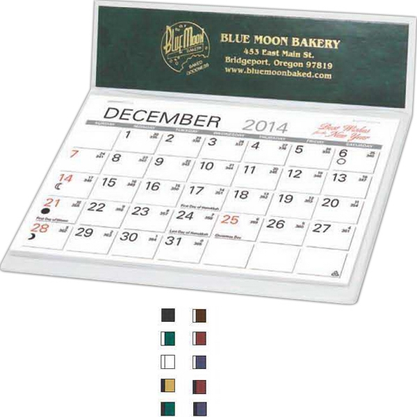 Magna (r) - Desk Calendar, With 2 Toned Design And Flip Out Phone Index Photo