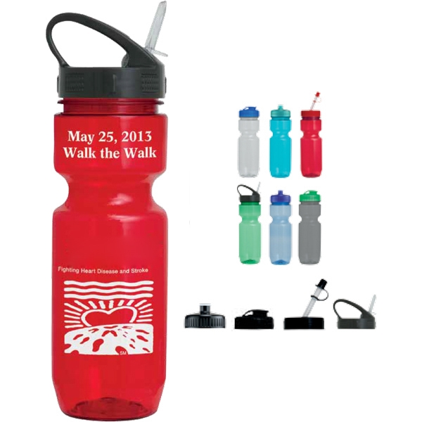 Straw Tip Lid - Translucent Sport Bottle, 22 Oz Photo