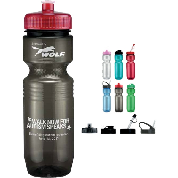 Push Pull Lid - Translucent Sport Bottle. 26 Oz Photo