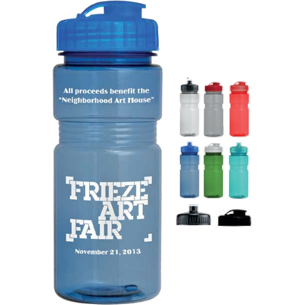 Flip Top Lid - 20 Oz Translucent Recreation Bottle Photo