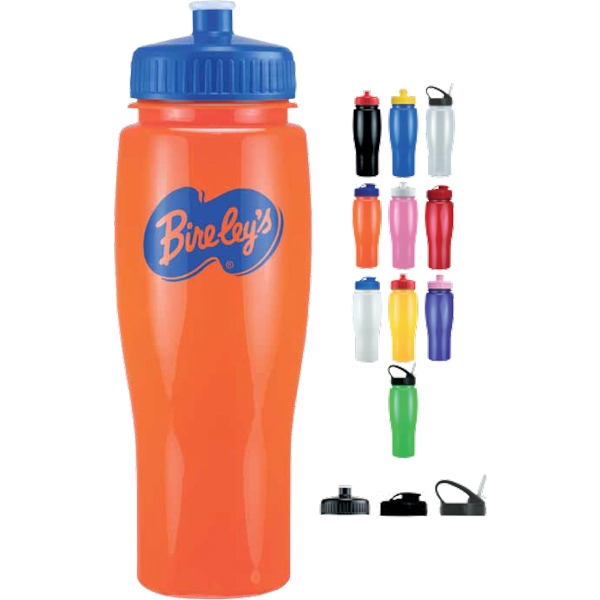Push Pull Lid - Opaque Contour Sports Bottle, 24 Oz. Bpa Free Photo