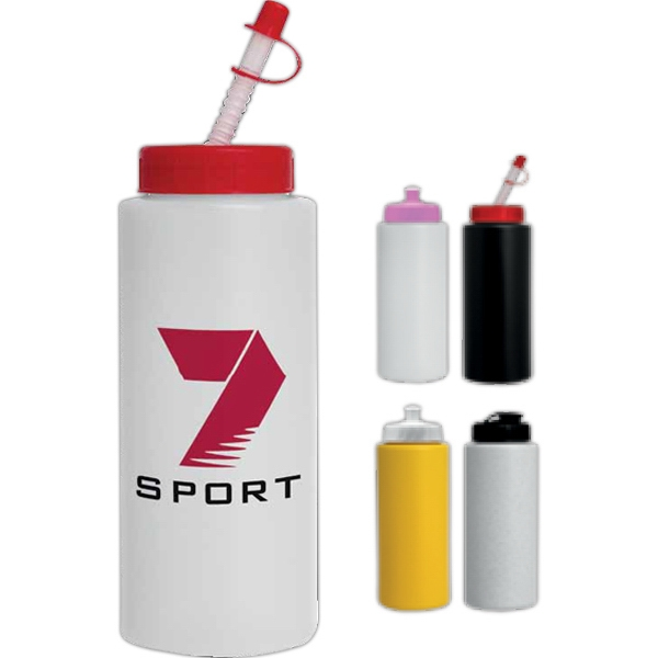 Straw Tip Lid - Sport Bottle, 32 Oz Photo
