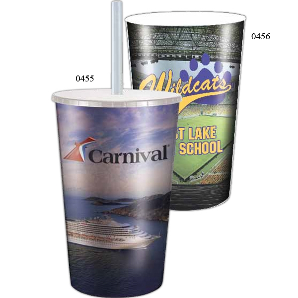 Maxcolor - Maxcolor Stadium Cup Without Lid - Double Wall Insulated Thermal Cup Made With Polypropylene Photo