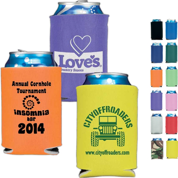 2 Sided Imprint - Folding Foam Can Cooler Photo