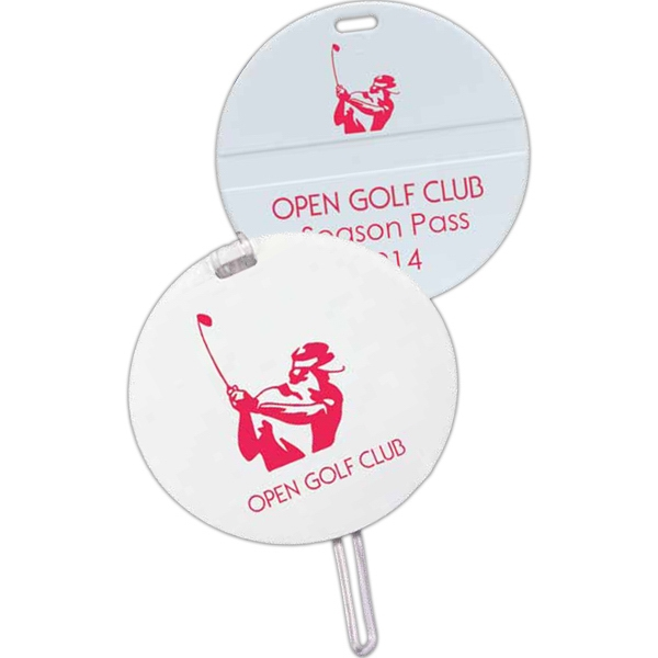 Round Shape Golf Bag Tag Photo